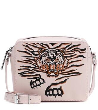 tiger bag shoulder bag leather pink
