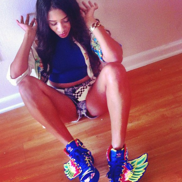 pink blue oxygen adidas wings wings green yellow bianca