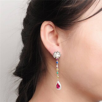 jewels pearl earrings dangle earrings stud earrings colorful silver earring silver earrings
