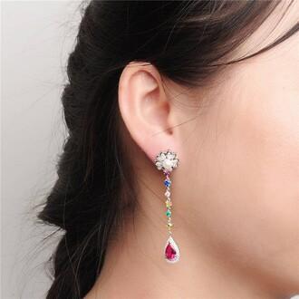 jewels pearl earrings dangle earrings stud earrings colorful silver earring silver earrings