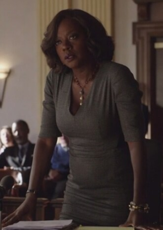 dress how to get away with murder annalise keating viola davis patterned wool blended