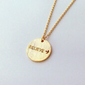 jewels,gold,chain,fly,birds,cute,funny,dainty,charm,necklace,gift ideas,for her,believe