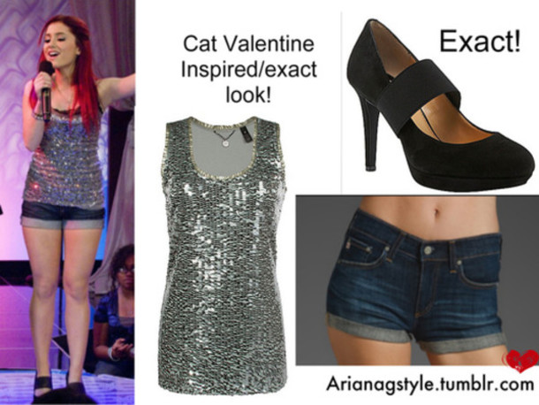 Top Glitter Cat Valentine Victorious