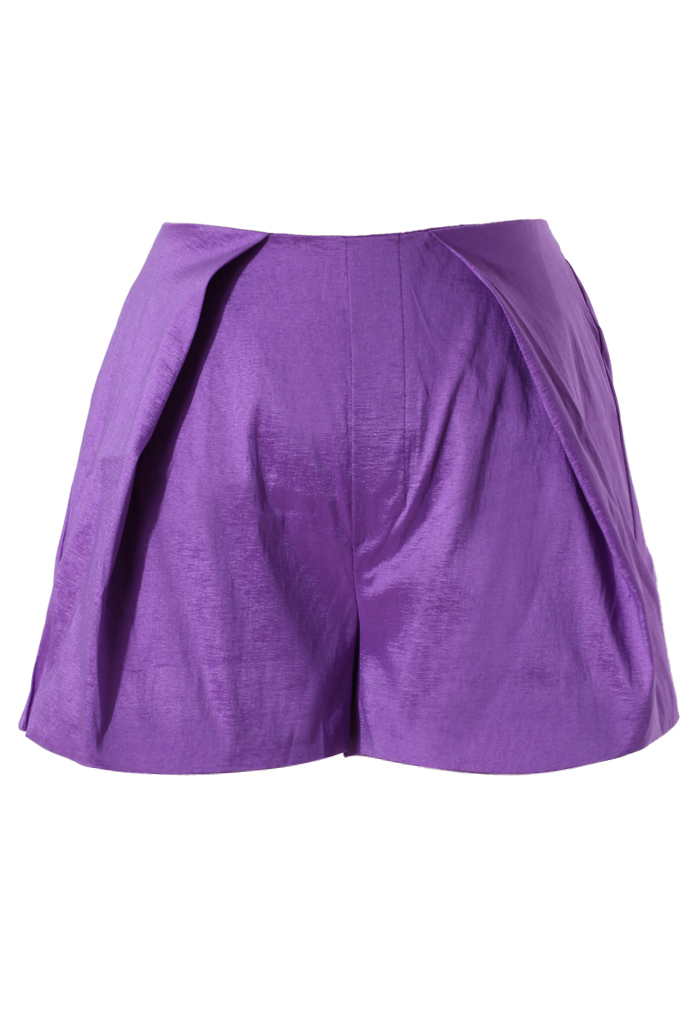 Purple Silky Summer Shorts - Retro, Indie and Unique Fashion
