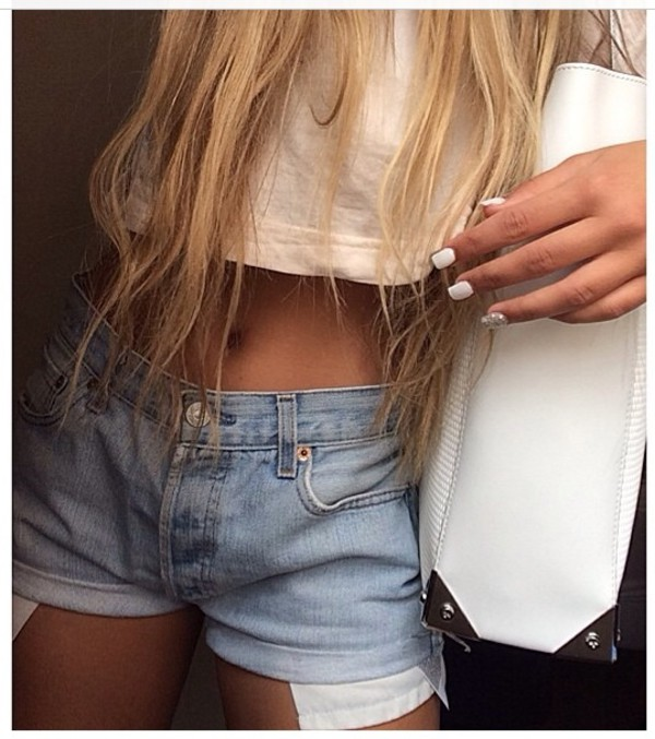 denim shorts crop tops top shorts