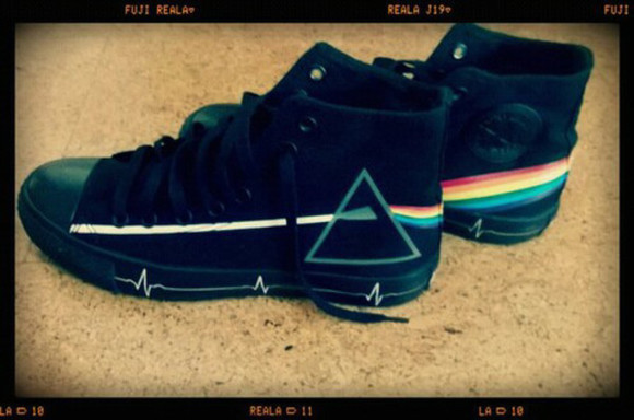 triangle converse shoes pink floyd all star colours rock 60 sixties