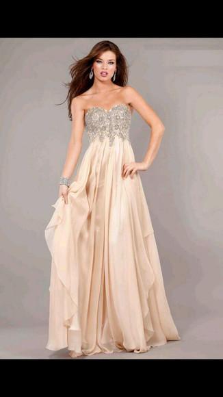 sweetheart neckline beige cream prom dress sequin prom dresses dress
