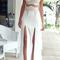 Lace top & split maxi skirt|disheefashion