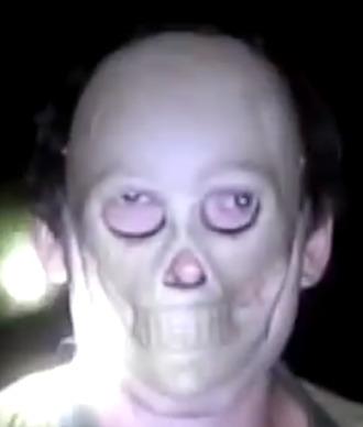 top spooky skeleton mask