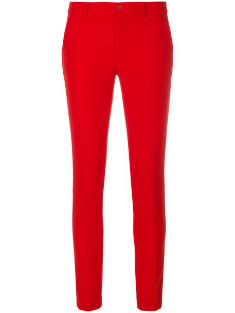 LIU JO women spandex red pants