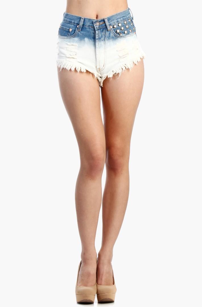 Dome studs shorts - Cutoff Shorts