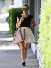 shoes,lauren conrad,skirt,bag,top