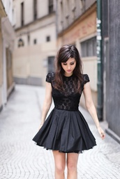 dress,little black dresses,little black dress,lace,short,skater,black,party dress,day dress,evening dress,cute dress