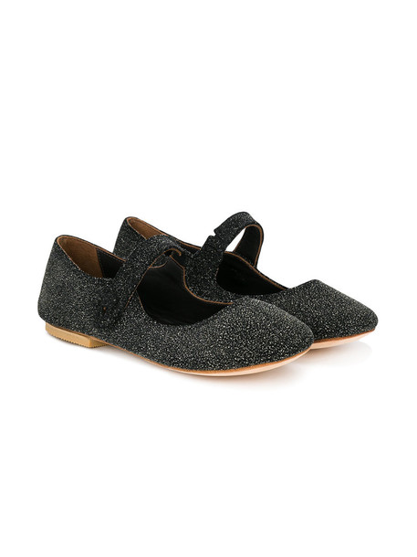 PePe glitter leather suede black shoes