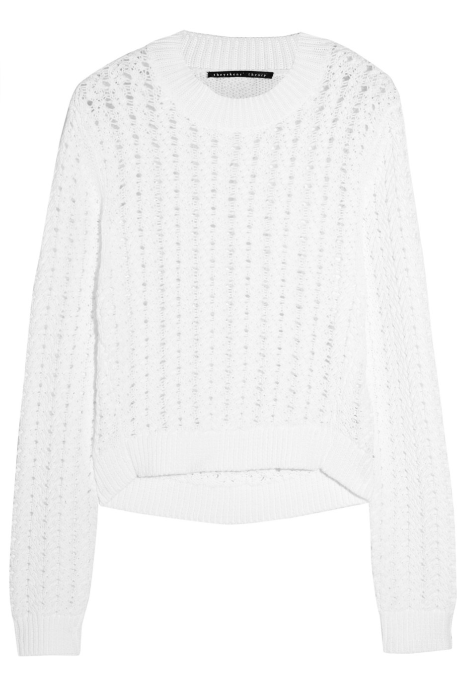 Kya open-knit cotton sweater | Theyskens' Theory | THE OUTNET