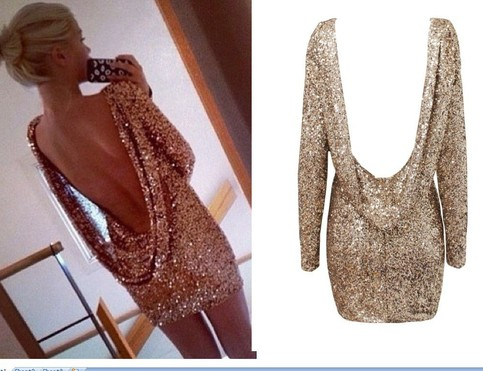 Backless sequin dress · fe clothing · online store powered by storenvy