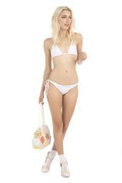 top,bikini top,halter top,triangle,white,bikiniluxe,swimwear,bikini bottoms,brazilian bikini,cheeky,lolli swim,skimpy,tie side