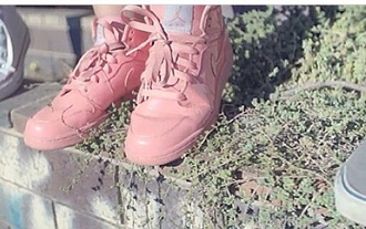 shoes jordan shoes nike shoes high top sneakers baby pink girly