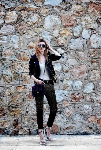 m&m fashion bites blogger jeans jacket shoes jewels sunglasses bag