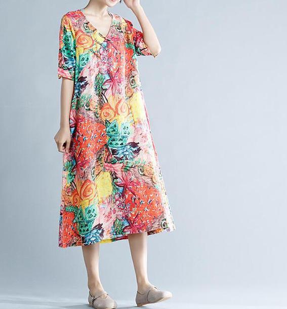 dress loose sundress printing loose sundress