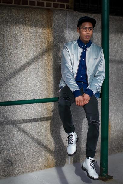 8b117182273 closet freaks blogger menswear snapback mens t-shirt mens shoes mens jacket  black jeans ripped