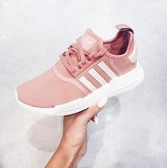 shoes pink white adidas adidas shoes sneakers adidas nmd adidas nmd r1 pink adidas nmd shoes