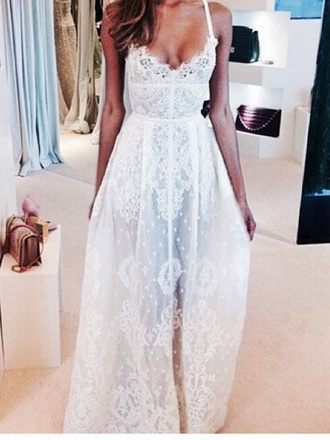white dress white maxi dress wedding dress dress long dress