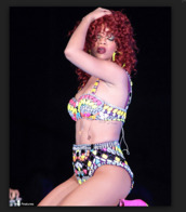 shorts,rihanna,bright,2pieces,african american