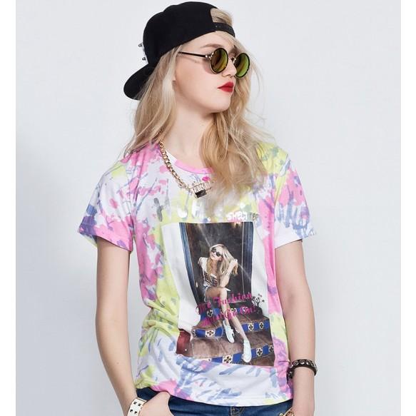 Tie Dye Print T-Shirt at Style Moi
