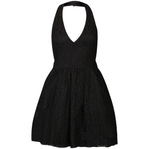 Club L Women's Lace Halter Neck Skater Dress - Black 			Womens Clothing | TheHut.com
