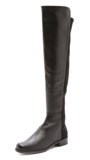 Stuart Weitzman 5050 Flat Boots - Black