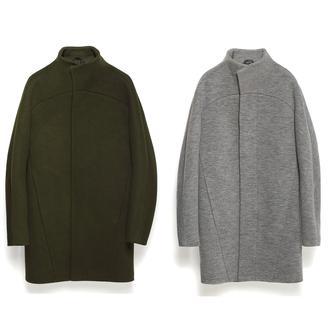coat wool coat wool grey khaki streetstyle streetwear urban urban outfitters menswear grey coat