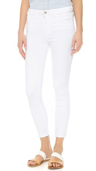 jeans skinny jeans high blanc