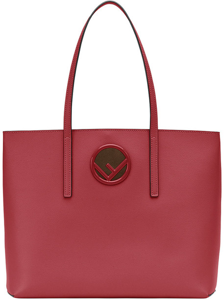 Fendi women classic leather cotton red bag