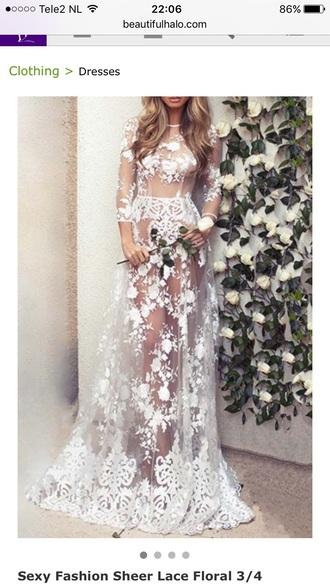 dress fashion style trendy white maxi dress lace dress romantic summer dress beautifulhalo
