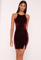 dress,red velvet dress