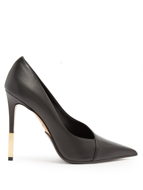 Balmain pumps leather black shoes