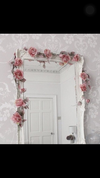 home accessory mirror white carved long big full length rose girly