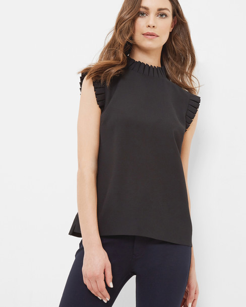 Ted Baker top pleated black