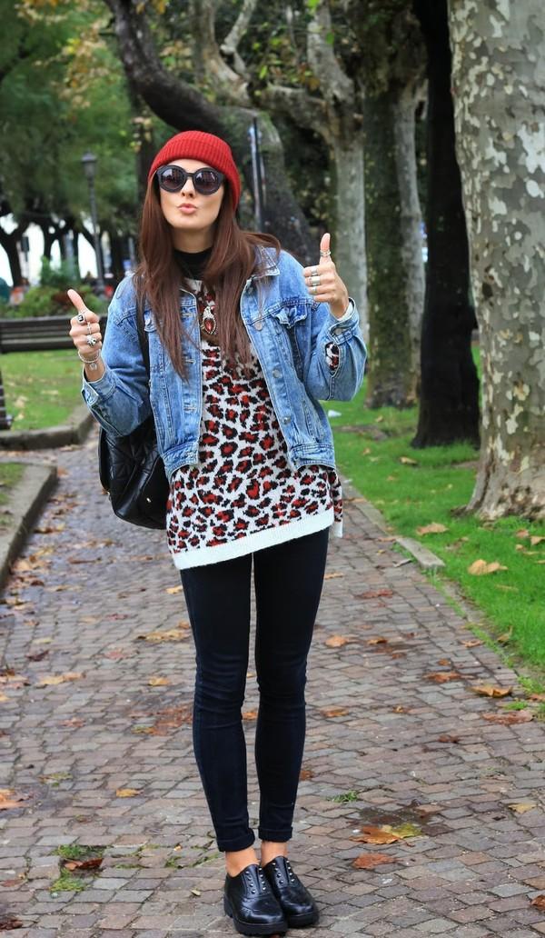 marie zamboli jacket sweater pants jewels shoes sunglasses hat