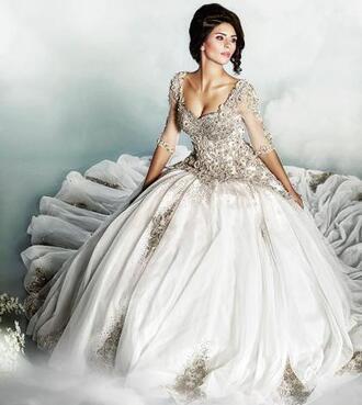 ball gown 2014 wedding dresses bridal gown luxury arabic 2015 wedding dresses