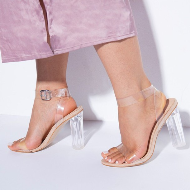 57c8a88fbe4 shoes clear heels ego clear sandals perspex yeezy