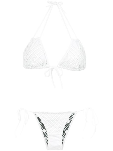 AMIR SLAMA bikini women spandex white swimwear