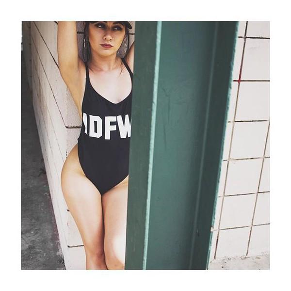 6cf841562bc67 swimwear black fashion summer beach sexy hot trendy bodysuit one piece  swimsuit freevibrationz