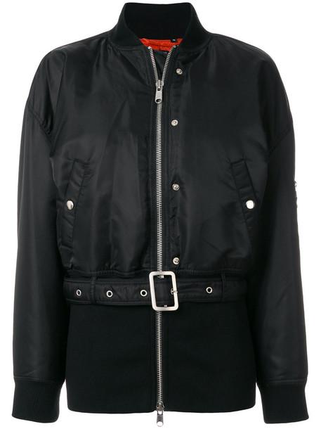 Opening Ceremony - torch belt bomber jacket - women - Nylon/Polyester - XS, Black, Nylon/Polyester