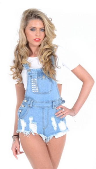 denim overalls dungarees shorts distressed denim shorts summer short overalls