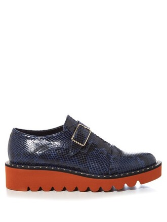 leather shoes snake shoes leather navy
