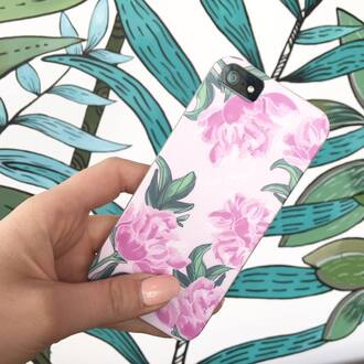 phone cover yeah bunny peony floral pink cute flowers iphone cover iphone case
