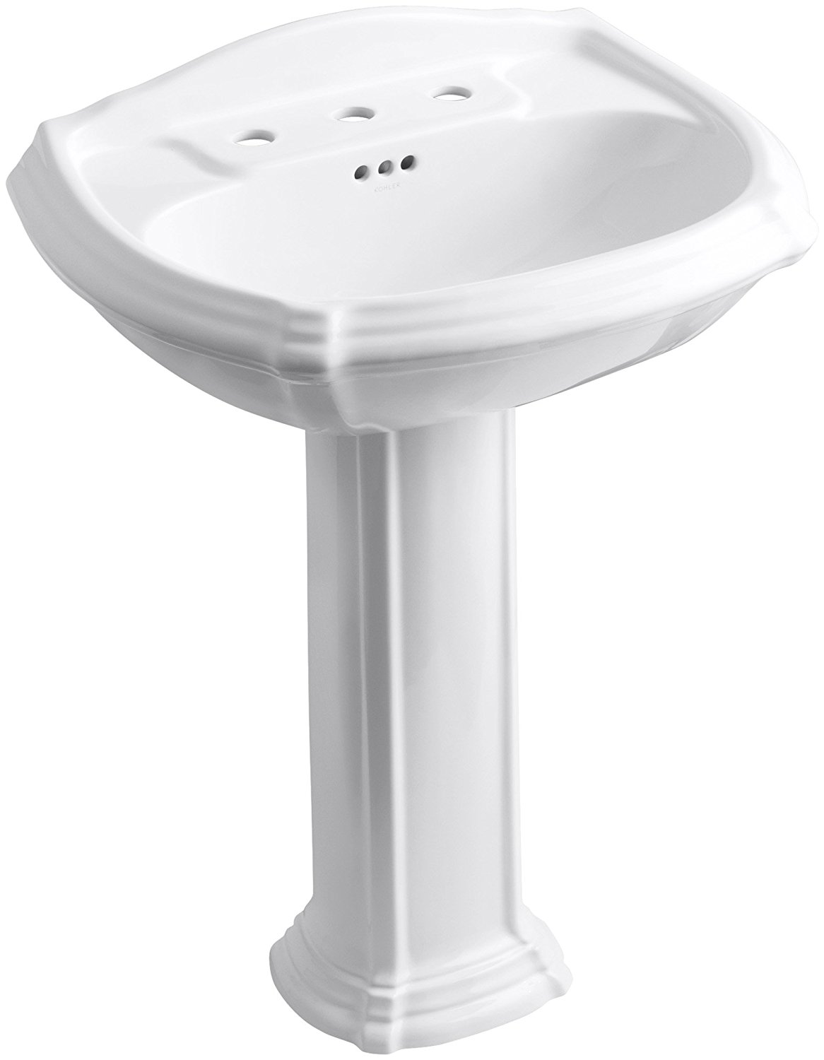 KOHLER K-2221-8-0 Portrait Pedestal Bathroom Sink with 8