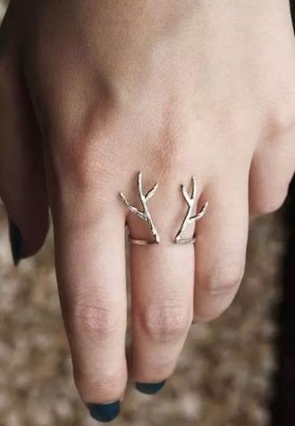 jewels silver ring cute rings deer ring